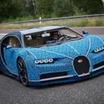 Машины-монстры: Полноразмерная копия Bugatti Chiron, изготовленная из миллиона блоков Lego Technic