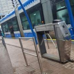 В Киеве сошел с рельсов трамвайный вагон