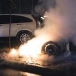 В центре Киева горели элитные иномарки