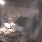 В Днепре дотла сгорело авто