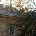 В центре Одессы пылает жилой дом