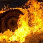 В Киеве на рассвете сгорело авто
