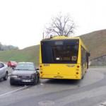 В Киеве такси Uber врезался в автобус