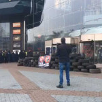 Митинг против российского бизнеса: националисты взяли в осаду ТЦ в Киеве