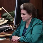 Терешкова возглавила комиссию по этике ЕР, призванную следить за поведением партийцев