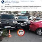 Спешил в алкомаркет: в Киеве Mazda устроила тройное ДТП