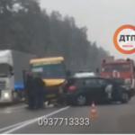 Под Киевом произошло смертельное ДТП с участием маршрутки