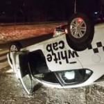 В Киеве пьяный водитель устроил ДТП с переворотом