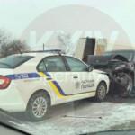 На Киевщине полицейское авто попало в масштабную аварию