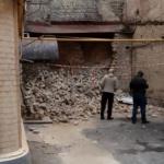 В Киеве возле ресторана обрушилась стена дома