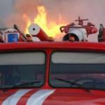 В Киеве горела «шиномонтажка»