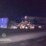 Под Житомиром три грузовика попали в ДТП