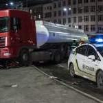 В Киеве бензовоз попал в ДТП