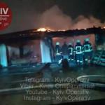Под Киевом из-за короткого замыкания произошел сильный пожар