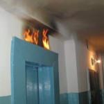 В киевской многоэтажке произошел пожар в лифте