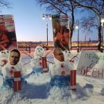 Петербургские «снеговики» напомнили об истории Навального и его сторонника-педофила