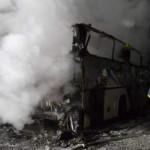 В Ровно сгорел дотла пассажирский автобус