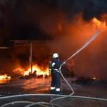 Под Днепром произошел масштабный пожар