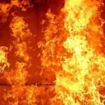 В Харькове женщина загорелась прямо посреди улицы