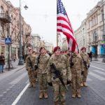 В Литву прибывает 500 военнослужащих из США. Они разместятся на границе с Беларусью