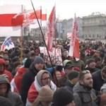 Белорусские националисты выступили в Минске против «русского фашизма»